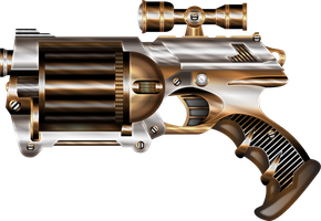 Steampunk NERF II by IllustratorG