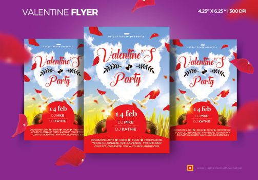 Valentines Day flyer by satgur