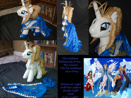 Belldandy Pony Plush MLP Plushie Contest by Drachefrau