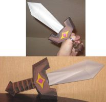 Legend of Zelda: Kokiri Sword by paperart