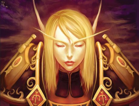 World of Warcraft: Blood Elf by shuqing