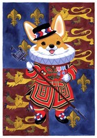 Beefeater Corgi by Pocketowl