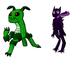 Mob sheet character test creeper enderman by speedcow12