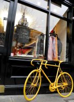Yellow bicycle by MarySk