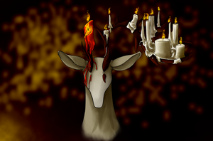 Candle Deer by Caelann