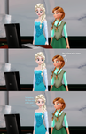 Anna and Elsa discover Elsanna by Nym-Starbright13