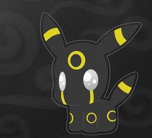 Umbreon Kitten by rosychan
