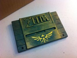 Zelda SNES 3D Printed Cart with Hyrulian Crest by RoseColoredGaming