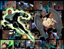 Green Lantern and Hawkgirl by K-Flyer413