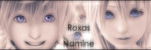 Roxas and Namine by G-OS