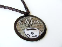 Lacquer Coffee Necklace by Stripedy