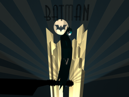 3D Art Deco Batman Robot by Billiam-McAwesome