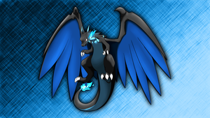 Mega Charizard X Wallpaper by Glench