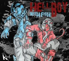 HellBoy With Fish by GraphRicks