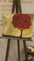 Red Tree with Birds by MsWritten