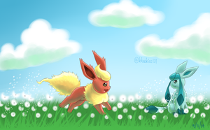 Flareon x Glaceon 2 by Bluekiss131