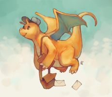 dragonite mail by genicecream