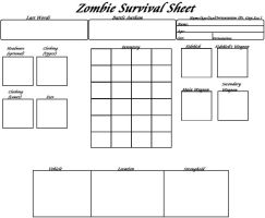 My Zombie Survival Sheet by AngelAzula15