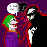 Joker and Venom by iPandaDrawer