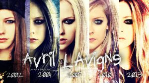 Avril Lavigne Faces 2002 - 2013 by PunksterPL