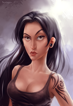 girl with tattoo by sharandula