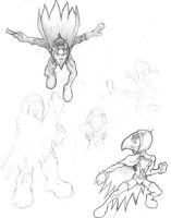 Battle of The Planets Sketches by icoman