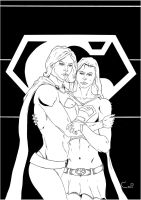 power girl and supergil by robertcheli