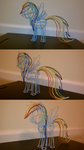 Wire Rainbow Dash Painted by eightup747