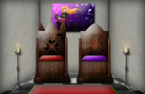 Tarimstadt Throne by Siphen0