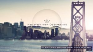 New week|New opportunities. by RikiConcepts