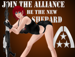 Shepard PIN UP Style by Tarkarra
