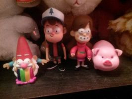 Gravity Falls Figures by SkunkyRainbow270