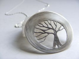 Silver Tree Necklace by MoonLitCreations