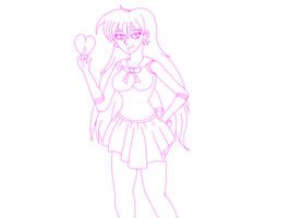 Sailor Mars Lineart by gtstyling32