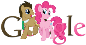 Doctor Whooves and Pinkie Pie Google Logo by ssumppg