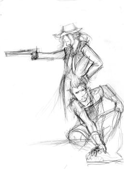 Irvine and Zell sketch by Engill16