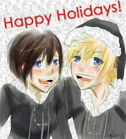 XionXRoxas -- Happy Holidays by MiniMiniYame