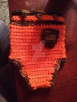 Hunter In Training Diaper Cover:Back by sparrowdragon