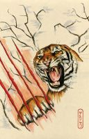 Angry Tiger Dream by SweetChile