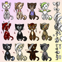 3 Points Cat adoptables - moved by Nahemii-chan