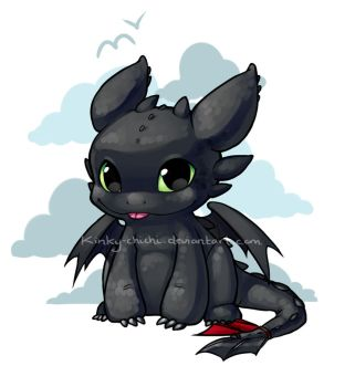Chibi Toothless by Kinky-chichi