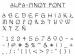 Alfa-Pinoy font by maypakialam