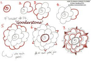 How to draw Paisley Flower 14 Gooderstone by Quaddles-Roost