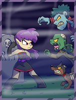 Violet vs the Horde by Jurassiczalar