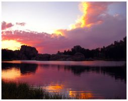 Sylvan Lake Sunset by JupiterLily