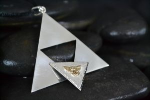Triforce Dual Pendant by Silverthink