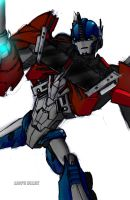 Transformers Prime Optimus Prime by Aronimo717