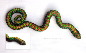 Green snake by hontor