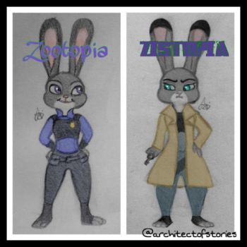 Judy Hopps in Zootopia/Zistopia by MousaCalliope