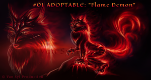 #01 ADOPTABLE: 'Flame Demon' [OPEN] by Van-Syl-Production